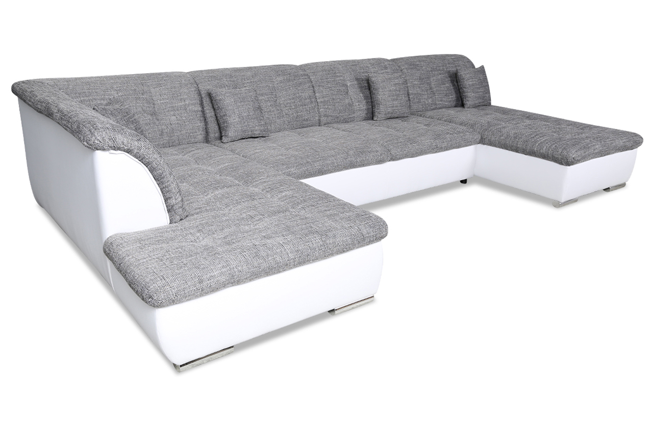 hoekzetel-fabrice-leder-wit-stof-grijs